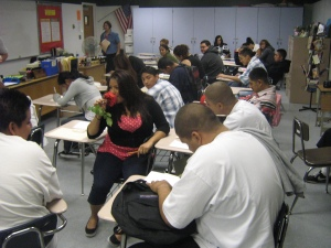 Teaching WORDPOWER to probation youth at East LA Skills Center