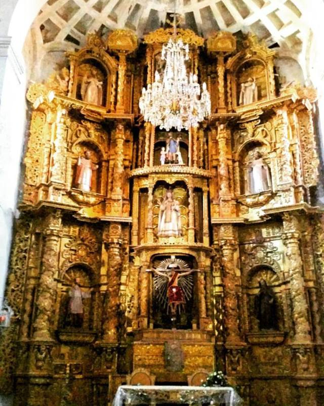 Gold Altar in Santo Domingo Church